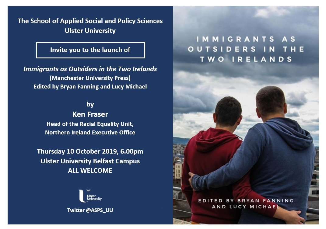 Book launch, Belfast: Immigrants as Outsiders in the two Irelands