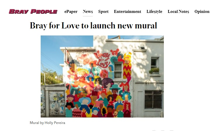 Bray People - Bray for Love to launch new mural
