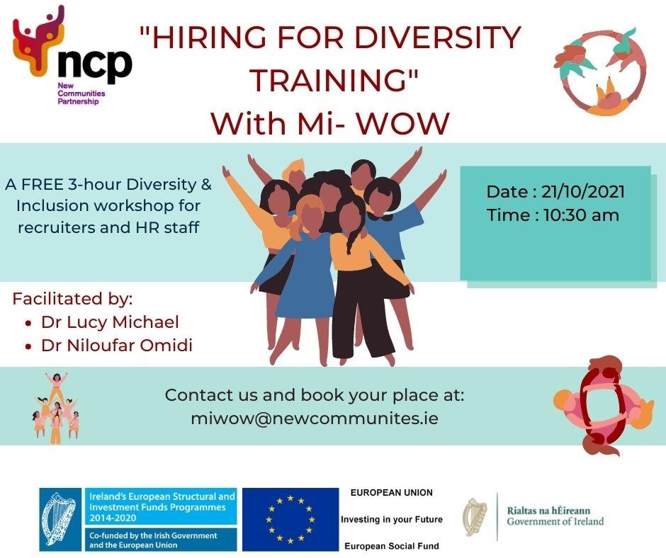 Hiring for Diversity poster
